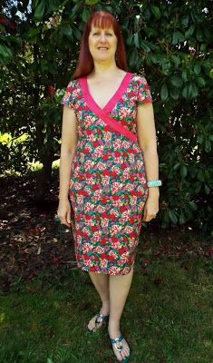 a wrap around dress made from quilting cotton fabric