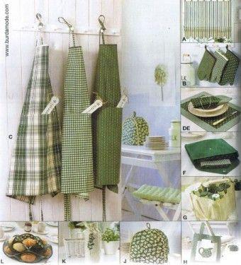Burda - 8125 Keuken accessoires | Naaipatronen.nl | zelfmaakmode patroon online