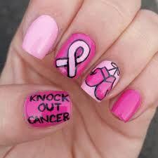 "uñas que dicen ""knock out cancer"" que significa           LUCHA CONTRA EL CANCER"