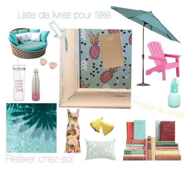 """Oasis d'été avec OmmaSae"" by info-521 on Polyvore featuring interior, interiors, interior design, thuis, home decor, interior decorating, Home Decorators Collection, Goodnight Light, Sugar Paper en Skyline"