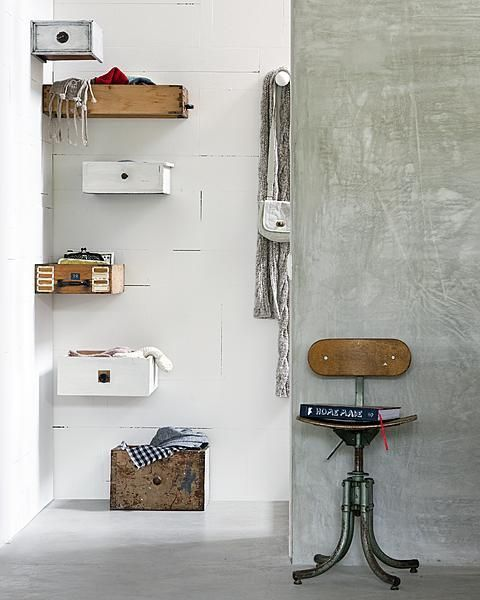 oude laatjes - organize - storage idea - old drawers