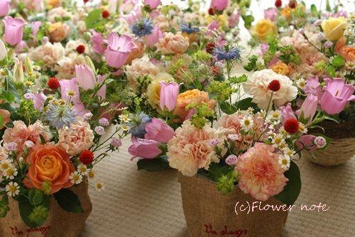 【母の日】沢山のご注文ありがとうございました♪|Flower note の 花日記 (横浜・上大岡 アレンジメント教室)