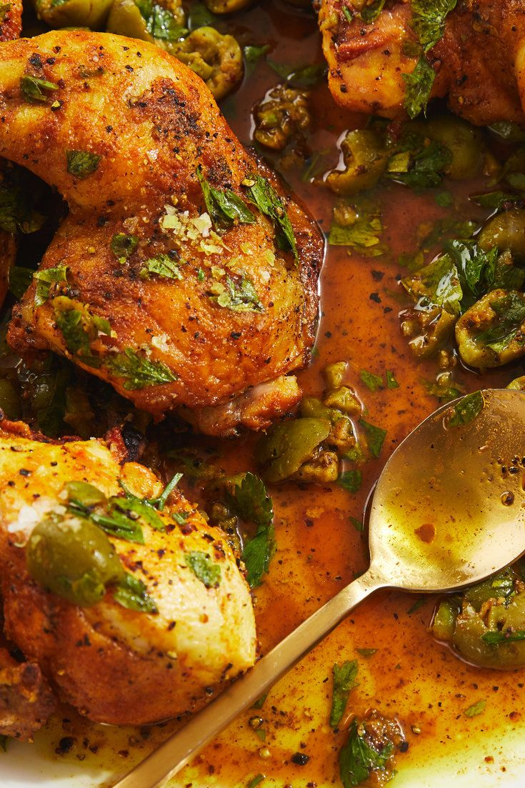 Vinegar Chicken With Crushed Olive Dressing Recipe Recipe Vinegar Chicken Nyt Cooking Recipes