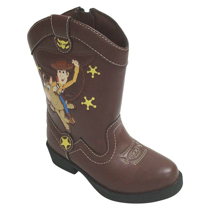 Disney Toddler Boys' Western Boots - Brown 9, Toddler Boy's