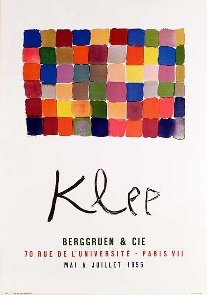 Paul Klee, poster for Klee Exhibition at Berggruen & Cie  1955