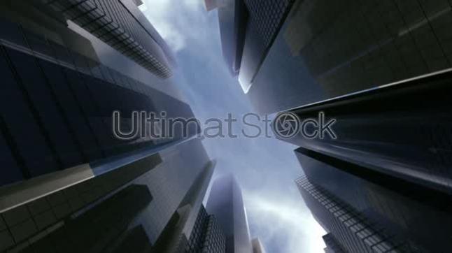 Sky over business center