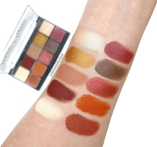 #Swatches of the new @nyxcosmetics Perfect Filter Palette in Rustic Antique ($20 Link ➡BIO).  This baby is stunning and this is one swipe of each color!  The shimmer shades are so buttery and smooth, I had to double check that they weren't creams. Even the mattes are super pigmented. So far I've only done finger swatches so time will tell if it does well with a brush on the eyes. I'll be sure to post a full review on my blog once I've tried it but so far...I'm impressed!  #nyx #ny...