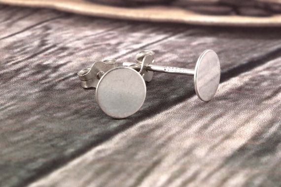 Traditional Handmade Sterling Silver Round Studs by AdornmixJewels
