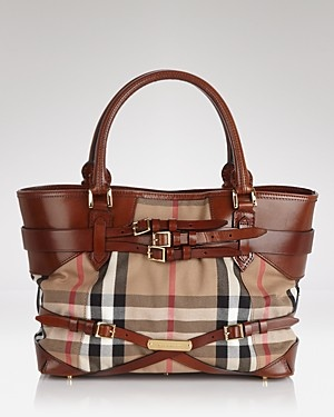Burberry Tote - Bridle House Check Medium Lynher ...