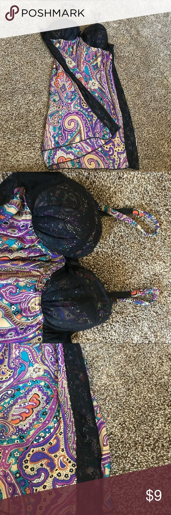 Gorgeous lingerie top. Like new. Barely worn. Beautiful paisley lingerie top with lace accented sides. Flowy and gorgeous. Barely worn. Intimates & Sleepwear