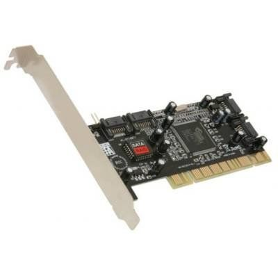 SYBA SY-SA3114-4R SATA 4x Internal port Controller Card w/ SoftRAID by Syba. $18.99. Description:Features: PCI 4-channel Serial-ATA 150 host controller card  Support programmable and EEPROM, FLASH & EPROM loadable PCI class mode Integrated SATA Transport, Link Logic & PHY layer 48-Bit sector addressing Supports software RAID 0 (striped), RAID 1 (mirror), and RAID 0 Supports co-exist RAID set and Non-RAID HDD Allows HDDs with different sizes to be configured in a R...