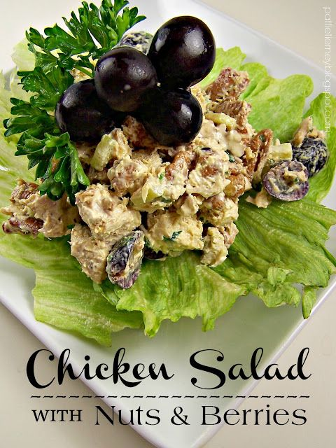"""Chicken Salad with Nuts & Berries. """"Winterize"""" your favorite recipes, like this one for chicken salad, by making them heartier by adding healthy, filling elements such as nuts and berries."""