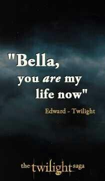 I don't care much for the Twilight movies, but I am in love with the books. I feel very strongly about Edward and Bella's love story. Theirs is possibly the only and most romantic true love I will ever believe in. Stephenie Meyer is a goddess.