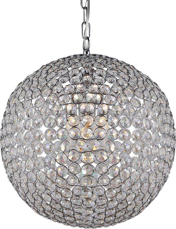 Vikesha 2 Light Single Globe Pendant Warehouse Of Tiffany Chandelier Crystal Chandelier