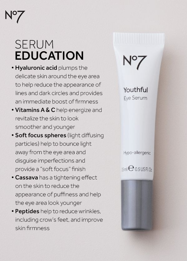 You may already be using serum on your face, but your eyes need extra anti-aging attention too! If dark circles, lines and wrinkles and puffiness are a concern, add a clinically proven eye serum to your regimen — under your eye cream for maximum results. No7 Youthful Eye Serum is available at @ultabeauty  for $23.99.