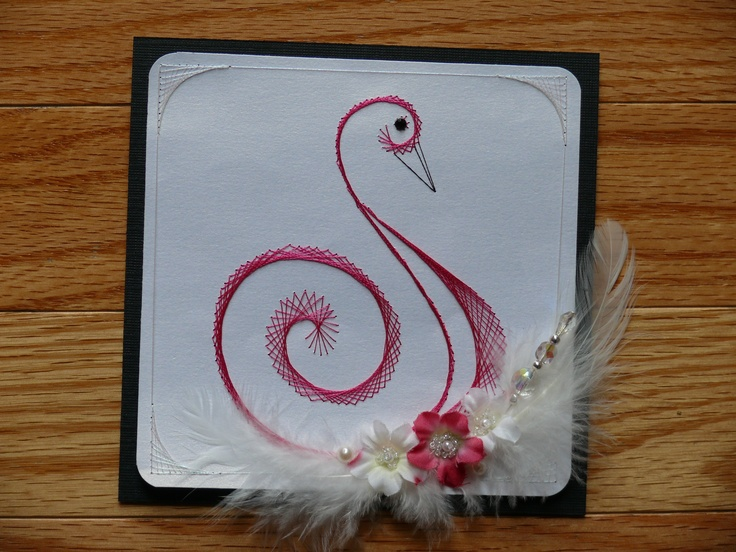 53 Best Stitched Cards Images On Pinterest Paper Embroidery