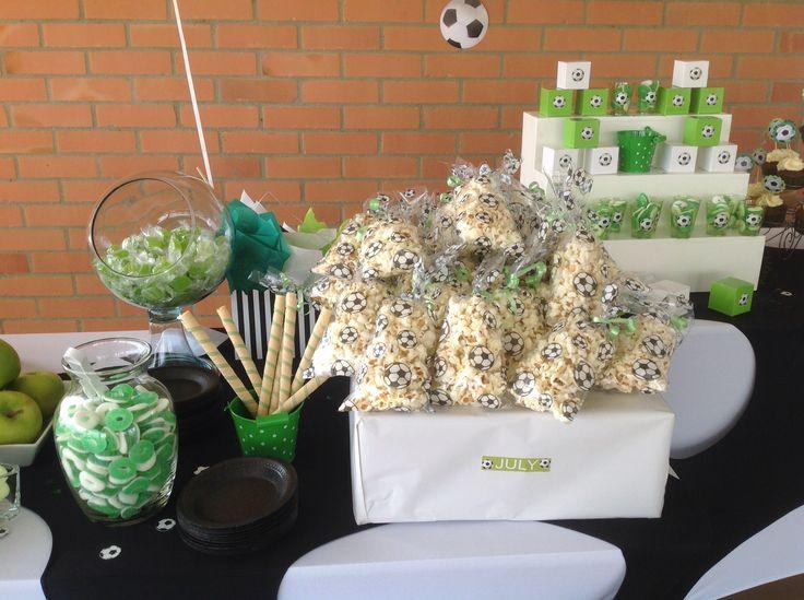 Pop corn soccer Fiesta de fútbol  Crispetas  Soccer party