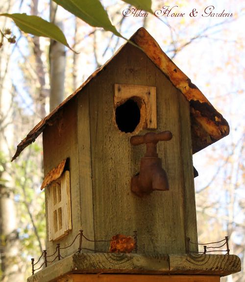 birdhouse with faucet