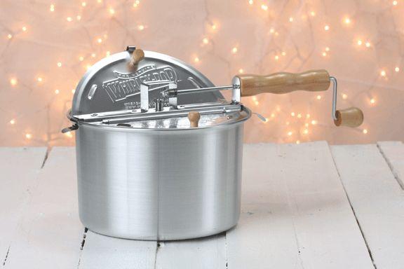 Whirley-Pop Stovetop Popcorn Popper - Original Silver--add metal gears for $3!