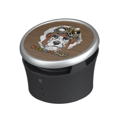 Steam Punk Puppy Dog Steam Powered Speakers - dog puppy dogs doggy pup hound love pet best friend