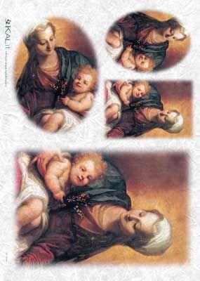 Papier ryżowy Kalit do decoupage spi0040 Madonna z dzieckiem 1 Papier ryżowy - sklep DecoupageArt.pl