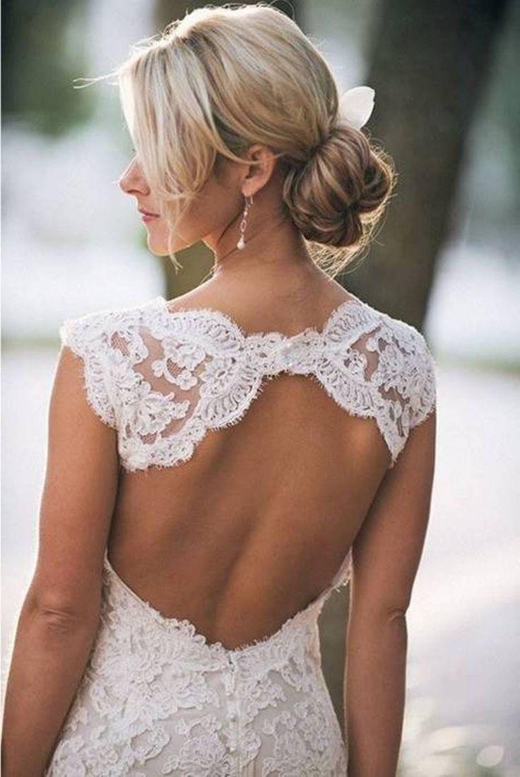 Lovely Lace Backless Wedding Dress
