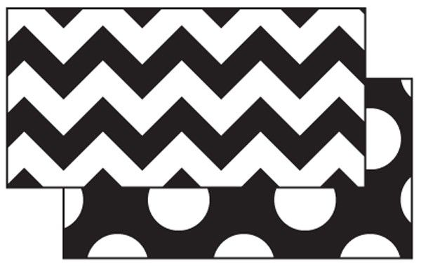 BLACK & WHITE ZIG ZAG DOUBLE SIDED BORDER  | Frog Street Press