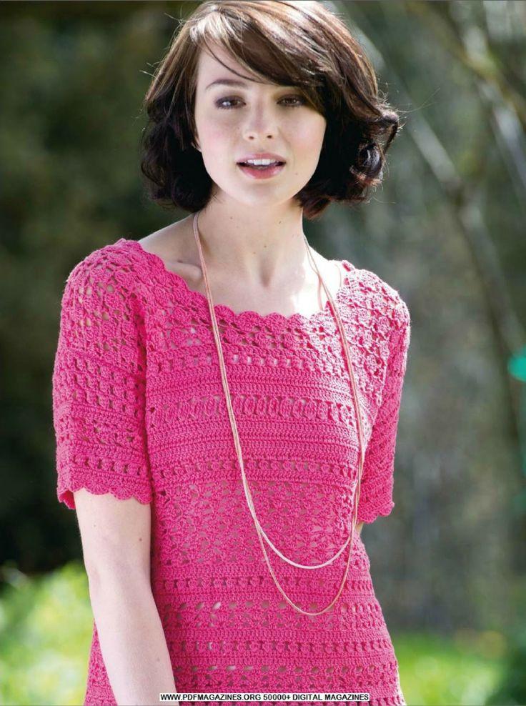 Crochetemoda: Top de Crochet Pink