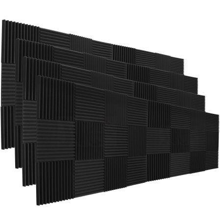"96 Pack Acoustic Panels Studio Soundproofing Foam Wedges 2"" X 12"" X 12"" at Walmart.com"