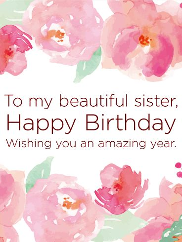 best happy birthday sister ideas sister  wishing you an amazing year happy birthday card for sister