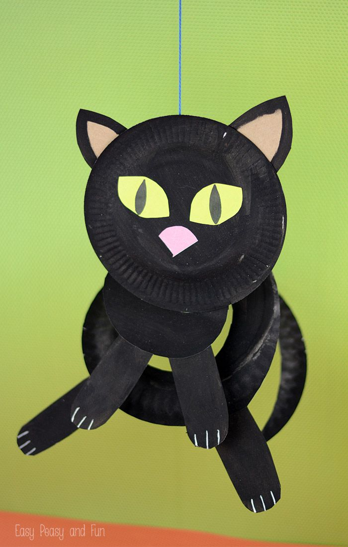 Paper Plate Black Cat - Paper Plate Crafts for Kids & 62 best Fun Paper Plate Crafts images on Pinterest | Crafts for ...