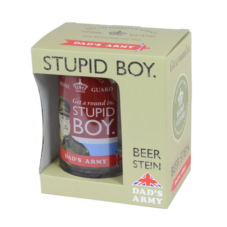 Dad's Army Stupid Boy Beer Stein is in stock at Gifts and Collectables as well as a range of Dad's Army gifts - order before 3pm for same day dispatch