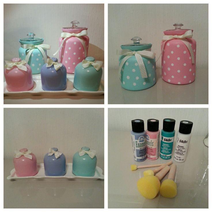 DIY Painted Cookie Jars
