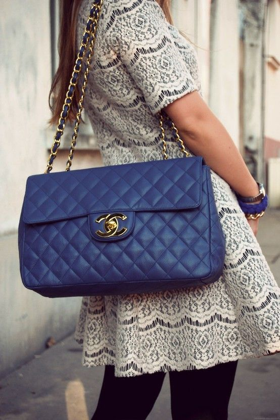The dress is adorable. The Chanel bag is just a bonus.