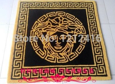 Home Decorations Rectangular Plush Princess Black Carpet