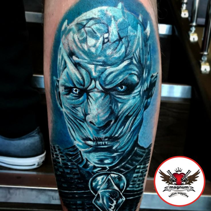 Scott Edward's dope #nightkingpiece from Game Of Thrones created with #magnumtattoosupplies