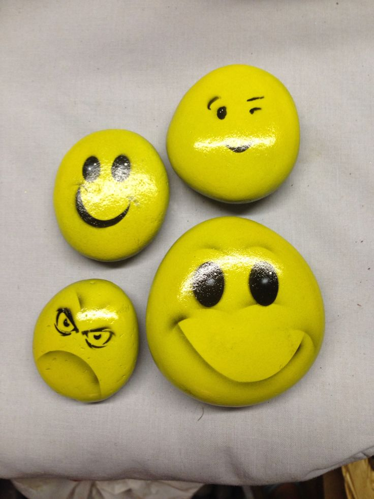 Emoticon painted stones SNS DESIGNS