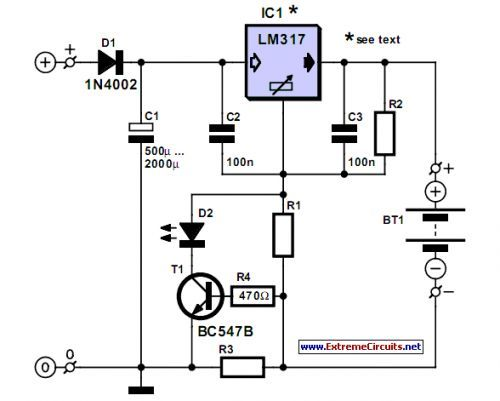 Simple NiCd Charger Circuit Diagram Carregador, Eletro