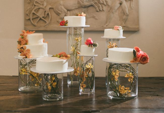 use brackets to make vintage door stand up at wedding | Wedding cake tables: Sherry Hammonds Photography / TheKnot.com