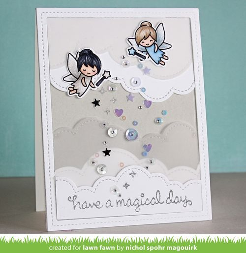 """Nichol Spohr Magouirk: Lawn Fawn + Lucy's Little Things   """"Have A Magical Day"""" Card"""