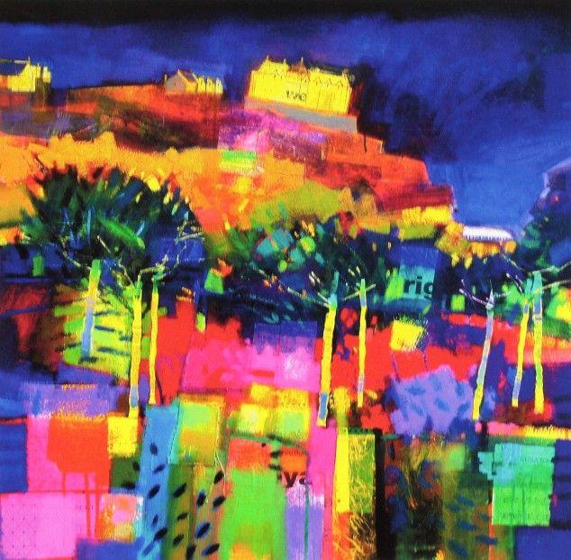 Francis Boag, Edinburgh Castle, July Evening, Signed Limited Edition Print Giclee | Scottish Contemporary Art