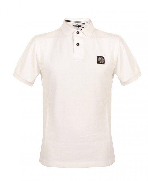 Stone Island White Short Sleeve Polo Stone Island white polo Regular fit Short sleeve Two button placket Stone Island badge on chest 100% cotton £85