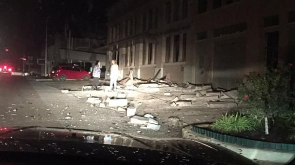 An earthquake rattled central Oklahoma tonight, reportedly damaging multiple buildings in Cushing, about 50 miles northeast of Oklahoma City, and was felt as far away as Arkansas, Kansas and Missouri. According to the U.S. Geological Survey, the quake hit at 7:44 p.m. The USGS initially measured the quake at 5.3 magnitude, but later revised the measure to 5.0. At least four structures sustained damage in the downtown area, including Cushing City Hall.