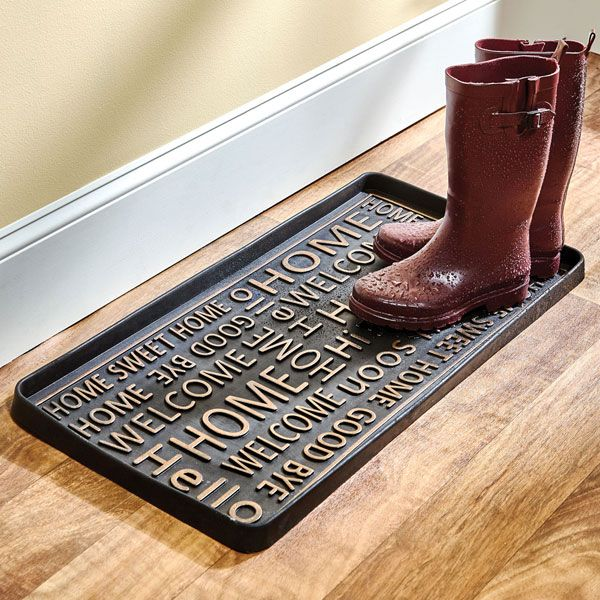 Hello Good Bye Rubber Boot Tray In 2020 Shoe Tray Boot Tray Boots