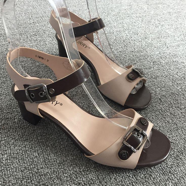 Единая европейская новая внешняя торговля дикой мод повседневной обуви со словом поясного с открытым носком сандалией с необработанной смешанными цветами - Taobao