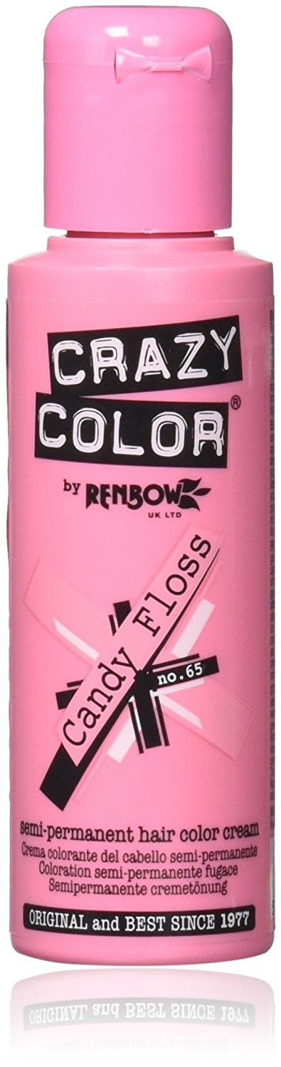 Crazy Colour Semi Permanent Hair Dye By Renbow Candy Floss No.65 (100ml) Box of 4 ** You can get additional details at the image link. #hairdiva