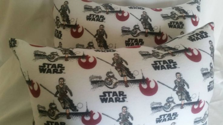 """Bb8 & Rey Star Wars 7 Pillows- Soft- Comfortable - Handmade-  Decorative Pillow-Flannel - Force-Girls- Awakens - 9""""×18"""" by MChampagneDesigns on Etsy"""