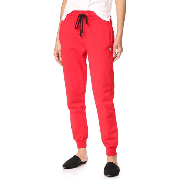 Hudson Classic Sweatpants ($76) ❤ liked on Polyvore featuring activewear, activewear pants, lush, red sweat pants, sweat pants, red sweatpants, drawstring sweatpants and drawstring sweat pants