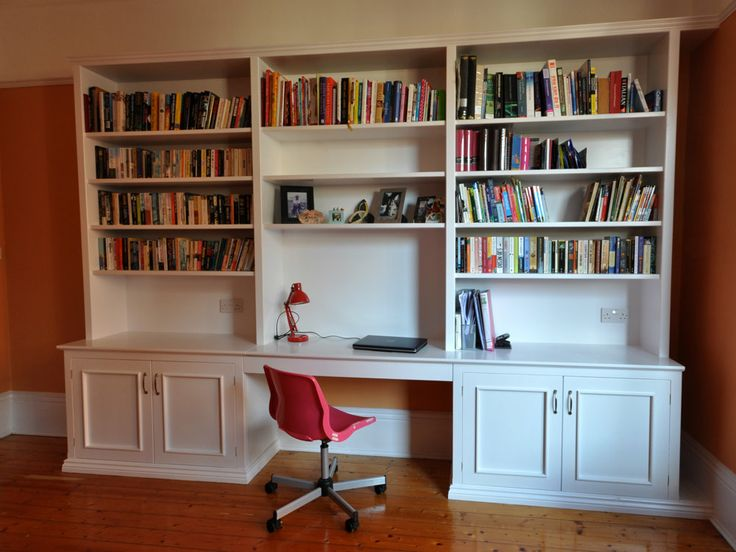 Built In Bookshelf With Desk | ... and fitted wardrobes, built in bedroom furniture | sherwoodwood.co.uk
