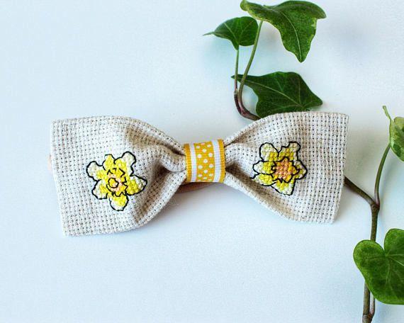 Daffodils Bow Headband Spring Baby Bow Headband Easter Bow